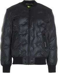 DIESEL W-on-thermo Bomber Jacket - Black