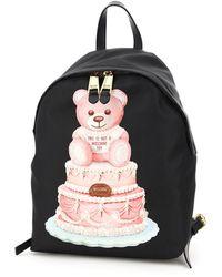 Moschino Cake Teddy Bear Backpack - Black
