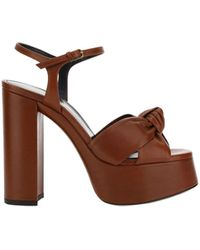 Saint Laurent Bianca Sandals - Brown