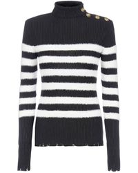 Balmain Striped Knitted Sweater - Multicolor