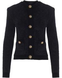 Balmain Button-detailed Knitted Cardigan - Black