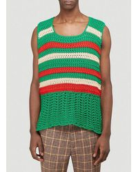 Gucci Knitted Vest Top - Green