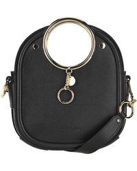 See By Chloé Mara Ring Handle Tote Bag - Black