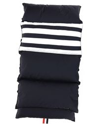 Thom Browne 4-bar Quilted Scarf - Blue