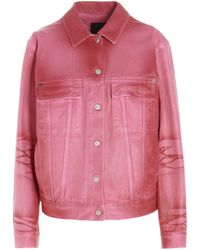 Givenchy Button-up Denim Jacket - Pink