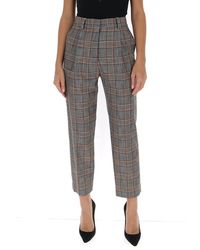 See By Chloé Checked Trousers - Grey
