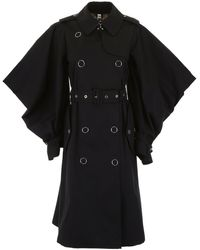 Burberry Cape Sleeves Trench Coat - Black