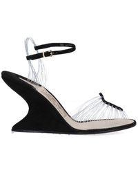 Ferragamo Invisible 1947 Wedged Sandals - Black
