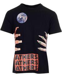 Raf Simons X Sterling Ruby Fathers Graphic Printed T-shirt - Black