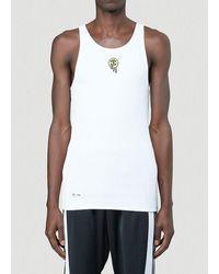 adidas Originals X 032c Graphic Embroidered Tank Top - White