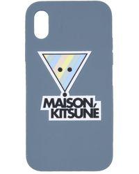 Maison Kitsuné 3d Rainbow Triangle Fox Iphone X Cover - Green