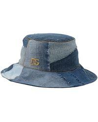 Dolce & Gabbana Denim Patch Bucket Hat - Blue