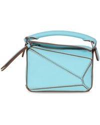 Loewe Puzzle Nano Handbag - Blue