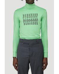 Raf Simons Disorder Printed Turtleneck Top - Green