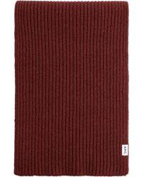 A.P.C. Rib-knit Scarf - Red