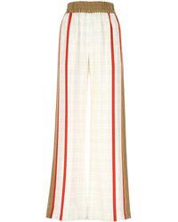 Burberry Archive Scarf Print Wide-leg Pants - White