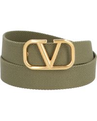 Valentino Vlogo Buckle Belt - Green