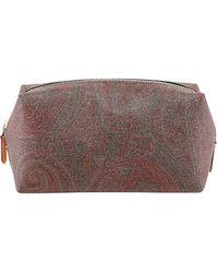Etro Paisley Print Wash Bag - Brown