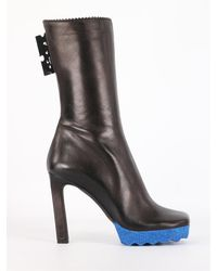 Off-White c/o Virgil Abloh Sponge Leather Boots - Black