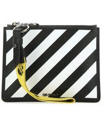 Off-White c/o Virgil Abloh Diag Clutch Bag - Black
