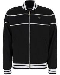 Philipp Plein Logo Embroidered Track Jacket - Black