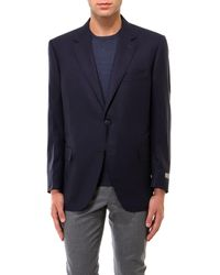 Canali Wool Blazer - Blue