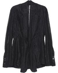 Ann Demeulemeester Oversized Lace Blazer - Black