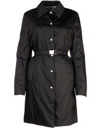 Miu Miu Belted Button-up Coat - Black