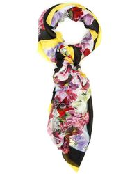 Dolce & Gabbana Floral Printed Scarf - Multicolour
