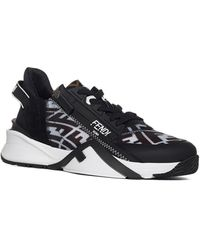 Fendi Flow Ff Motif Sneakers - Black