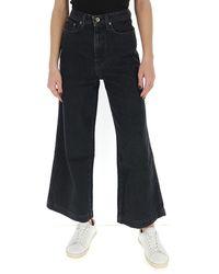 Nanushka Wide Leg Jeans - Black