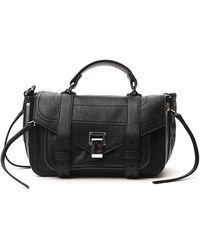 Proenza Schouler Ps1 Zip Tiny Tote Bag - Black