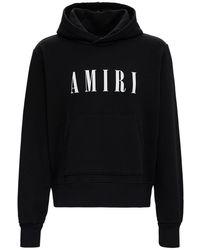 Amiri Black Jersey Hoodie With Logo