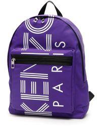 KENZO Logo Backpack - Purple