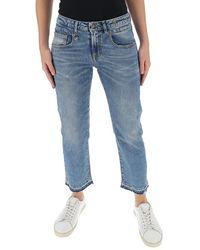 R13 Boy Mid-rise Straight Leg Jeans - Blue