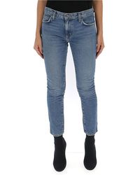 Current/Elliott - Cropped Skinny Jeans - Lyst