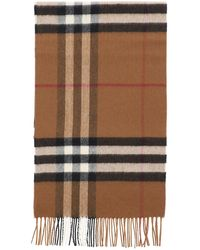Burberry Giant Check Scarf - Brown