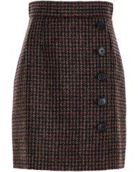Dolce & Gabbana Tweed Wrap Skirt - Black