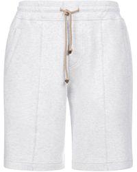 Brunello Cucinelli Drawstring Track Shorts - Grey