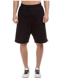 McQ Logo Stripe Shorts - Black
