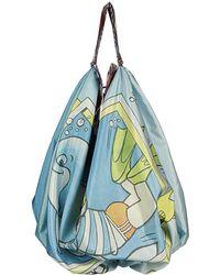 Chopova Lowena Scuba Graphic Print Shoulder Bag - Blue