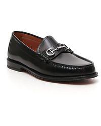 Dior Logo Plaque Loafers - Black