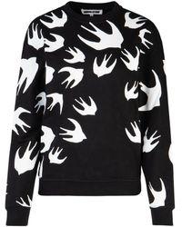 McQ Swallow Print Sweatshirt - Black
