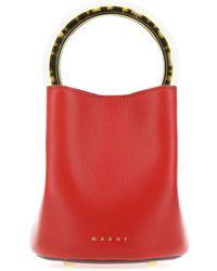 Marni Pannier Bucket Bag - Red