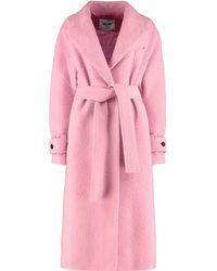 MSGM Wool Blend Coat - Pink