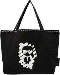 Karl Lagerfeld K/ikonik Graffiti Reversible Tote Bag - Black