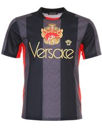 Versace Embroidered Soccer Jersey - Multicolour