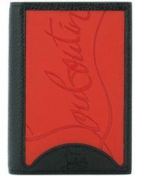 Christian Louboutin Embossed Logo Bifold Wallet - Black