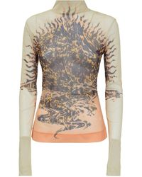 Givenchy Graphic Print Semi-sheer Top - Multicolour