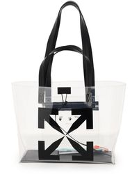 Off-White c/o Virgil Abloh Small Tpu Tote Bag Arrows Print - Black